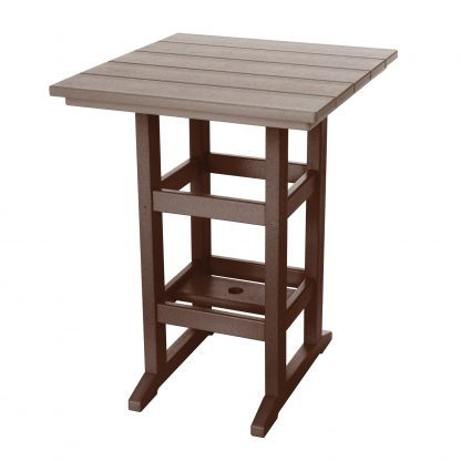 Counter Height Table- Chocolate/Weatherwood