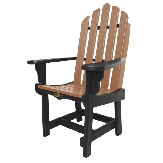 Essentials Dining Chair with Arms - Black / Cedar