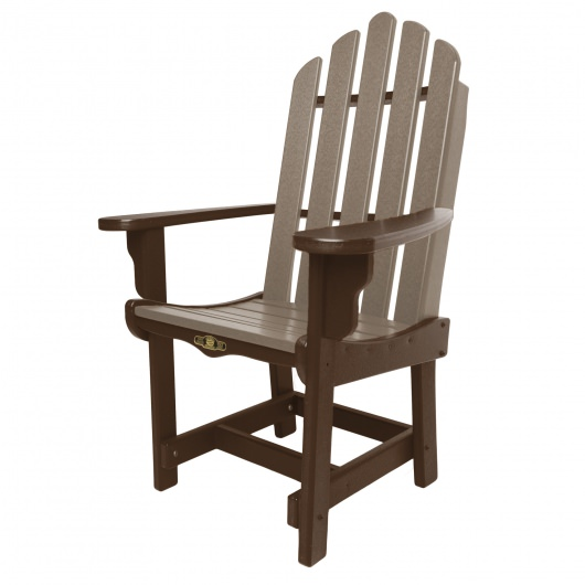 Essentials Dining Chair with Arms - Choc / Weatherwood
