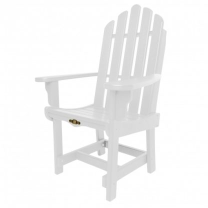 Essentials Dining Chair with Arms - White