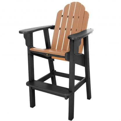 Essentials Counter Height Chair- Black/Cedar