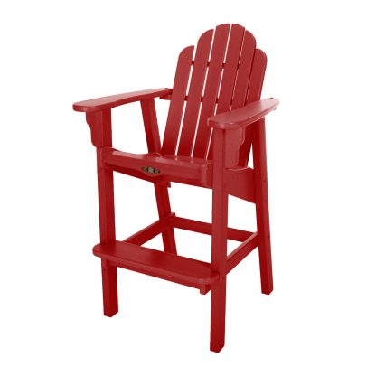 Essentials High Dining Chair- Red