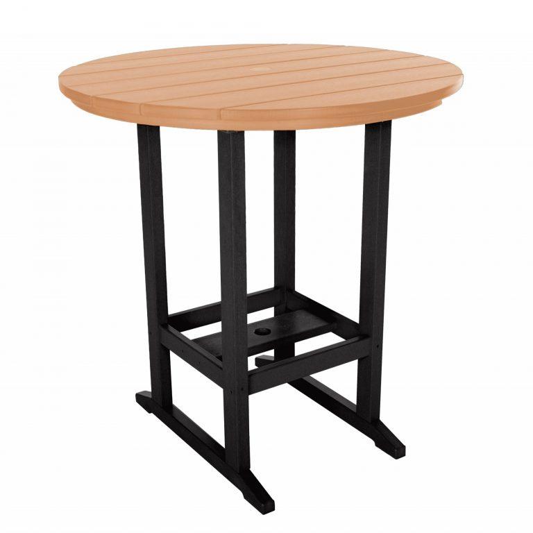 Round Bar Height Dining Table - HDT1 - Black/Cedar