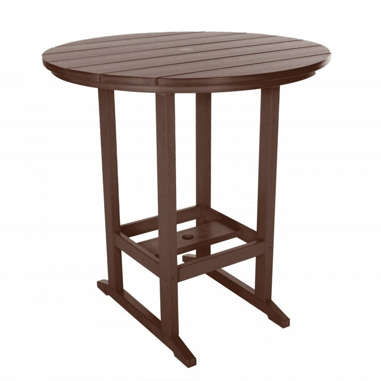 Round Bar Height Dining Table - HDT1 - Chocolate