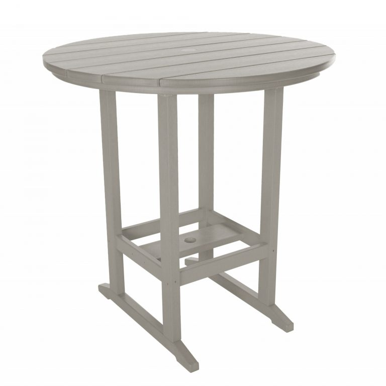 Round Bar Height Dining Table - HDT1 - Gray