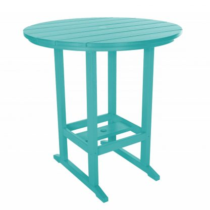 Round Bar Height Dining Table - HDT1 - Turquoise