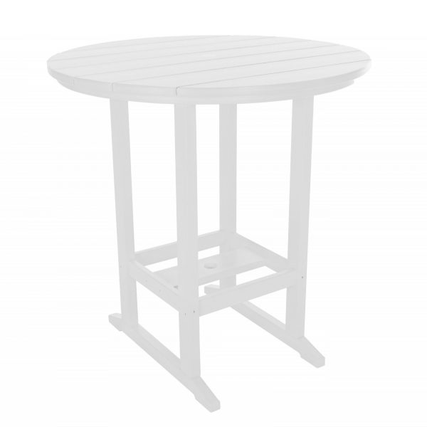 Round Bar Height Dining Table - HDT1 - White