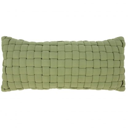Soft Weave Pillow - Light Green