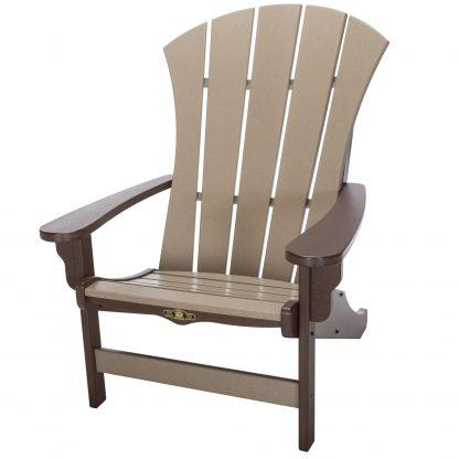 Sunrise Adirondack Chair- Chocolate/Weatherwood