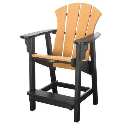 Sunrise Counter Height Chair- Black/Cedar