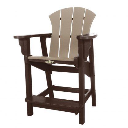 Sunrise Counter Height Chair- Chocolate/Weatherwood