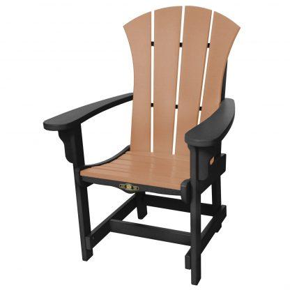 Sunrise Dining Chair with Arms- Black/Cedar