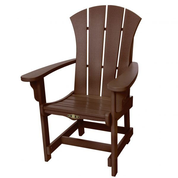 Sunrise Dining Chair with Arms- Chocolate