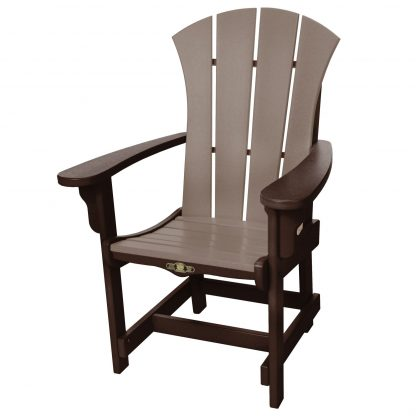 Sunrise Dining Chair with Arms- Chocolate/Weatherwood