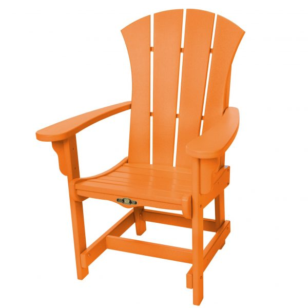 Sunrise Dining Chair with Arms- Orange