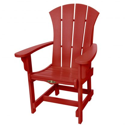 Sunrise Dining Chair with Arms- Red