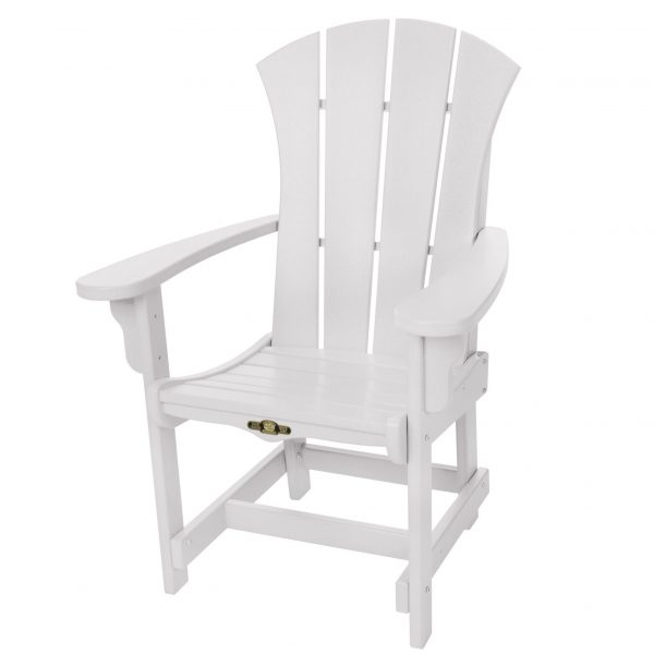 Sunrise Dining Chair with Arms- White