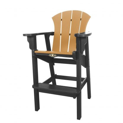 Sunrise High Dining Chair- Black/Cedar