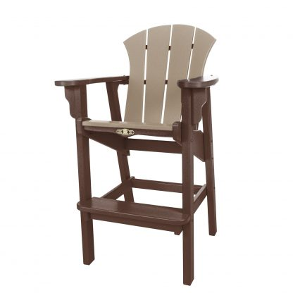 Sunrise High Dining Chair- Chocolate/Weatherwood