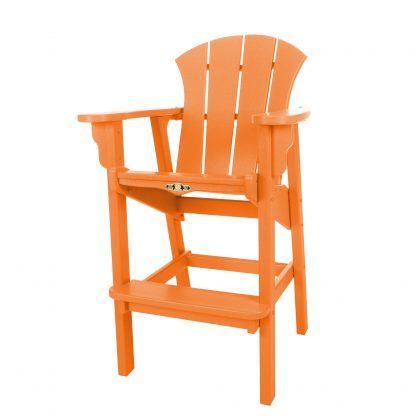 Sunrise High Dining Chair- Orange