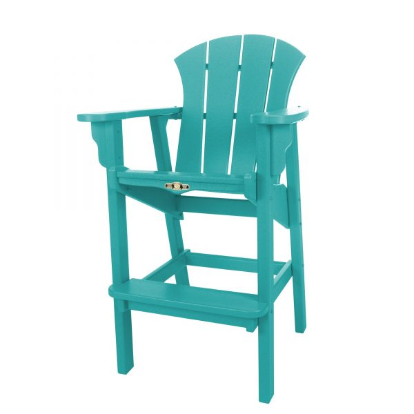 Sunrise High Dining Chair- Turquoise