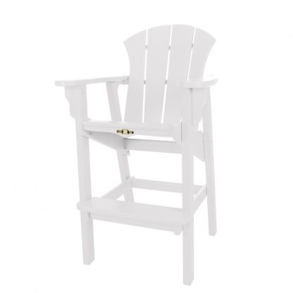 Sunrise High Dining Chair- White