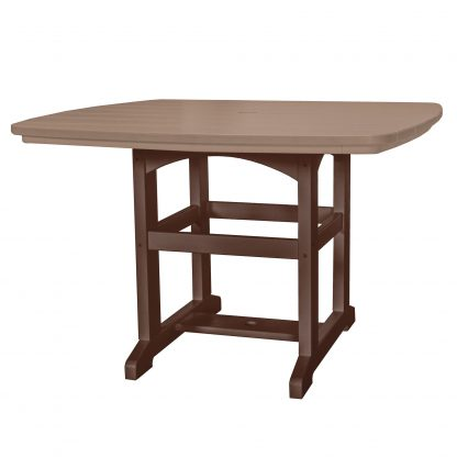 Dining Table 46 - DT2 - Chocolate/Weatherwood