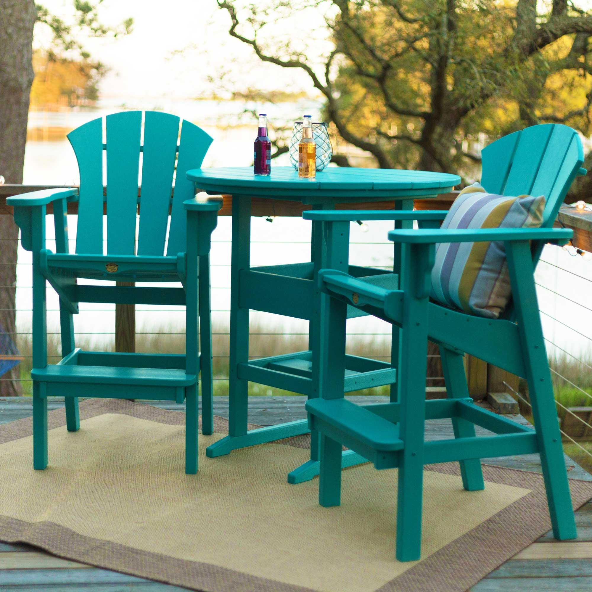 Picture of: Round Bar Height Dining Table Nc Hammock Company