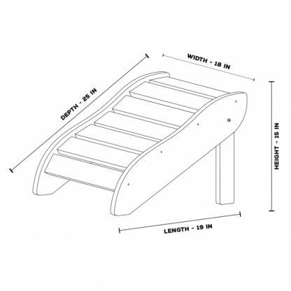 Foot Rest - FR1 - Dimensions