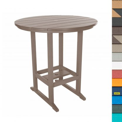Round Bar Height Dining Table - HDT1 - with Navy