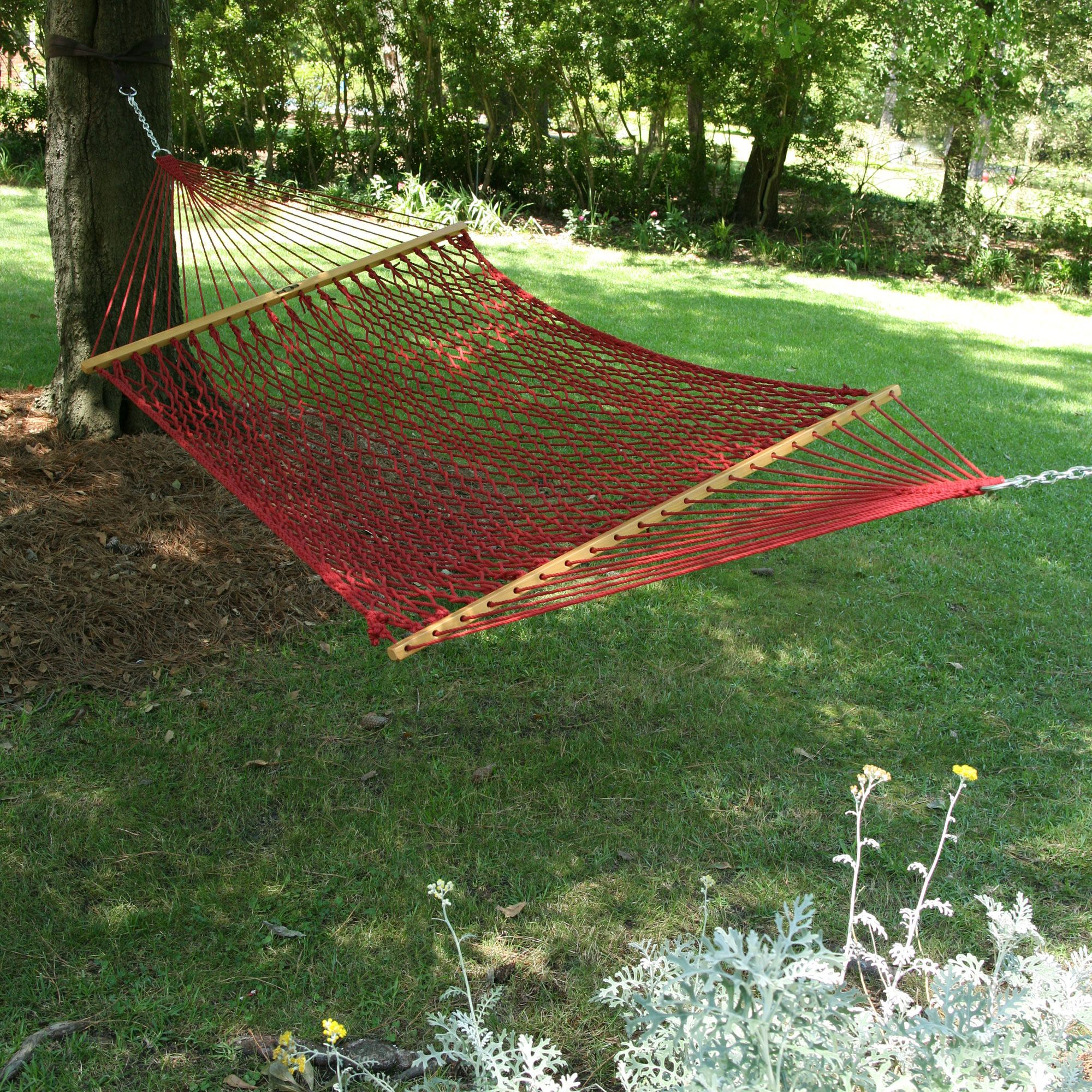 Large Original Duracord Rope Hammock - Garnet by Pawleys Island Hammocks