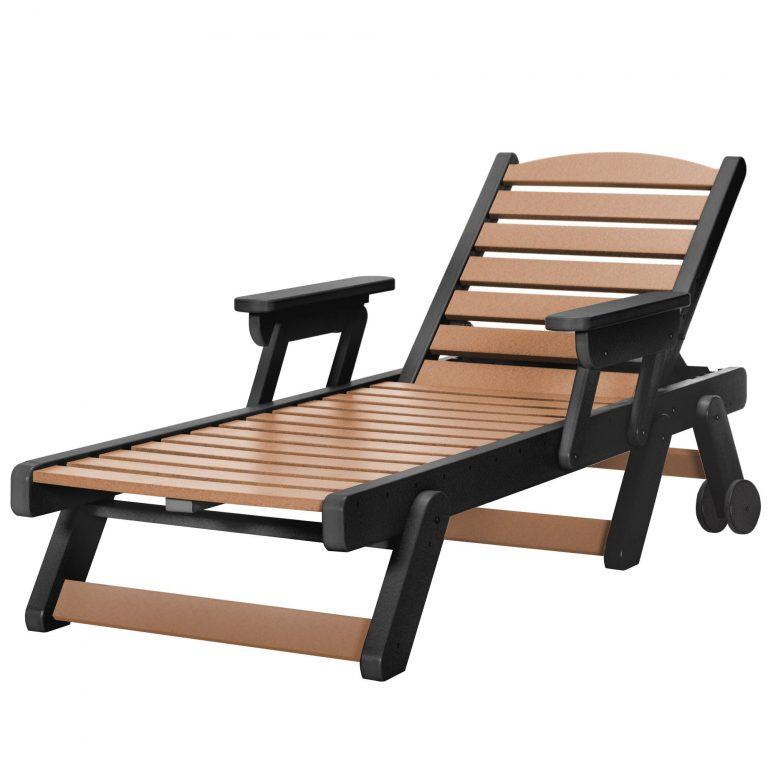 Chaise Lounge - SRCL1 - Black/Cedar