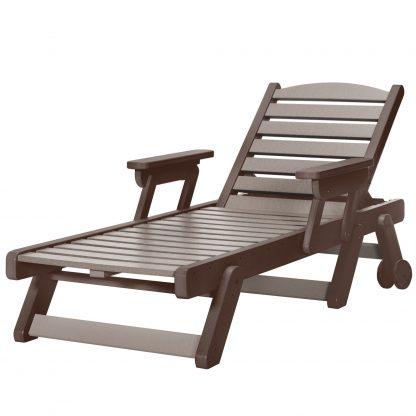 Chaise Lounge - SRCL1 - Chocolate/Weatherwood