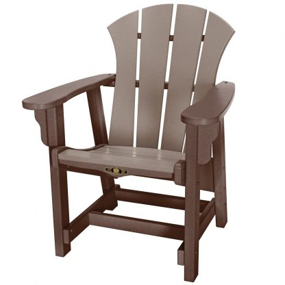 Sunrise Conversational Chair - SRCV1 - Chocolate/Weatherwood