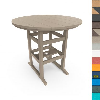 Round Counter Height Dining Table with Navy
