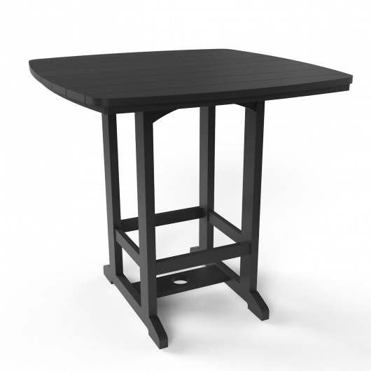Square High Dining Chair - Black