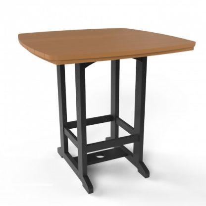 Square High Dining Chair - Black/Cedar