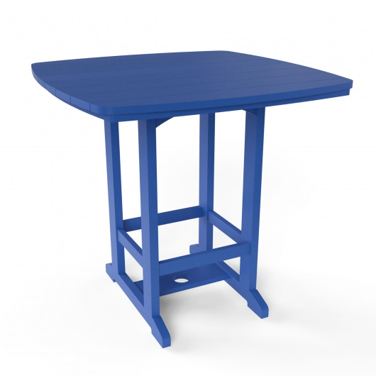 Square High Dining Chair - Blue