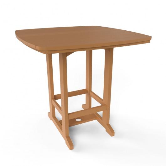 Square High Dining Chair - Cedar