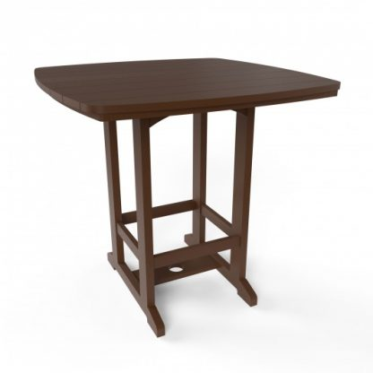 Square High Dining Chair - Chocolate