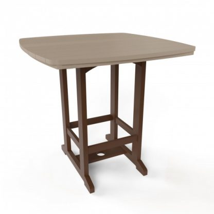 Square High Dining Chair - Chocolate/Weatherwood