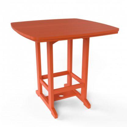 Square High Dining Chair - Orange