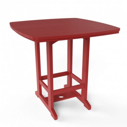 Square High Dining Chair - Red