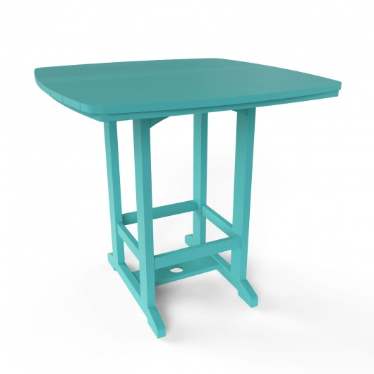 Square High Dining Chair - Turquoise