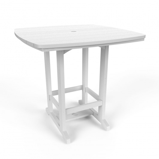 Square High Dining Chair - White