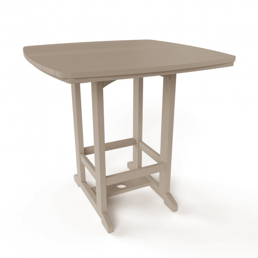 Square High Dining Chair - Weatherwood