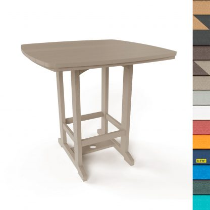 Square High Dining Table with Navy