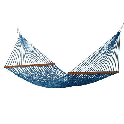 Deluxe Duracord Rope Hammock - Coastal Blue - 14DCCB