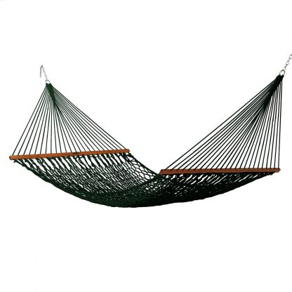 Deluxe Duracord Rope Hammock - Green - 14DCG