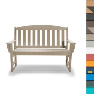 Garden Bench with Navy
